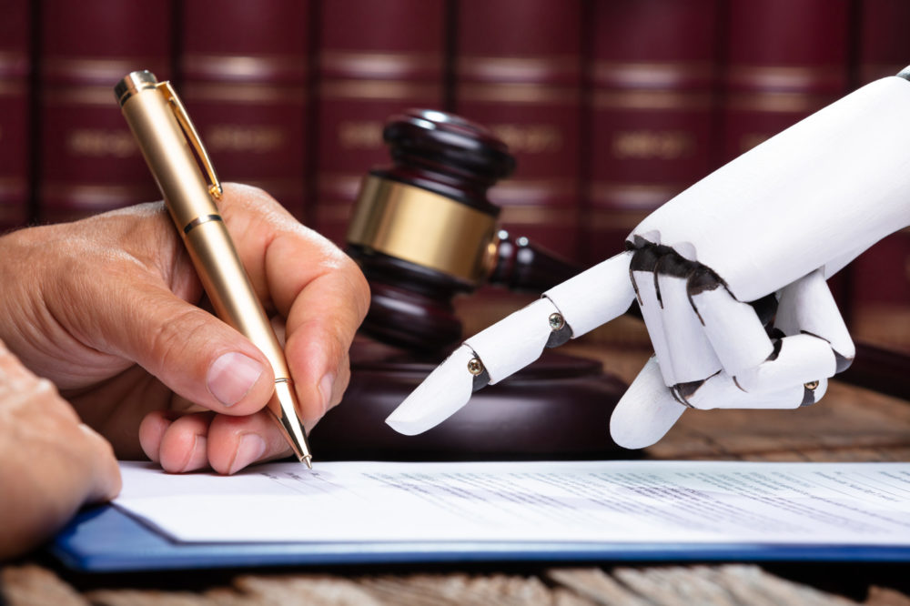 Robotic Hand Assisting Person For Signing Document